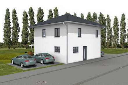 Modernes Haus, quadratisch, praktisch, gut
