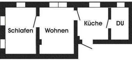 Kleine 2-Raum-Wohnung in Riesa-Merzdorf