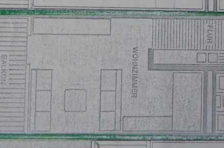 1,5-Raum-Wohnung, EBK, großem Südbalkon, Hausmeister, Garage