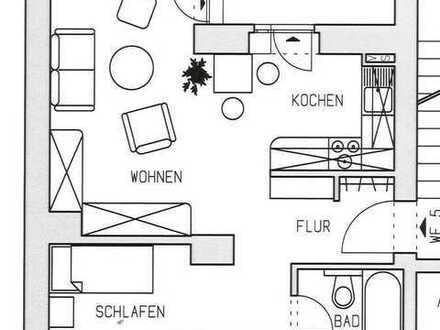 Moderne 1-Zi.-Whg. im 1.OG - Laminat - Schlafniesche - komplett zum Innenhof - Balkon - Wanne
