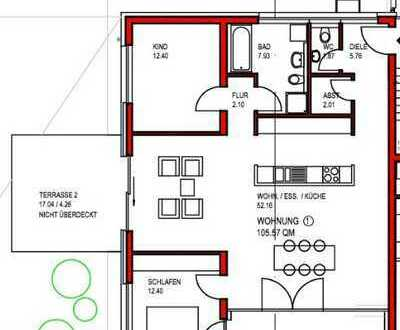 3-Zi. Neubau Erdgeschosswohnung