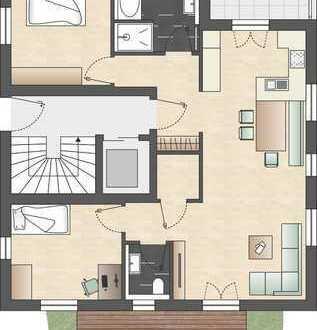 Gartengeschosswohnung mit hochwertiger Ausstattung
