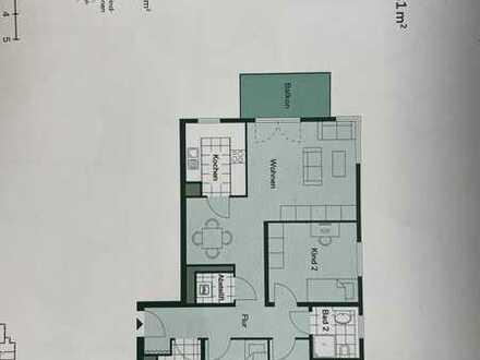 Neuwertige 4-Raum-Wohnung mit Balkon und Einbauküche am Barbarossaring