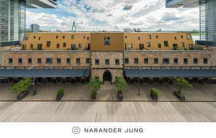 Möblierte Maisonettewohnung mit Dachterrasse und Rheinblick