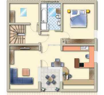 Kleine Wohneinheit und beste Aussichtslage: 2,5-3-Zimmer-DG-Wohnung mit Einzelgarage