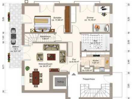 4-Zi.-Maisonettewohnung mit ca. 140 m² in Sonnenlage