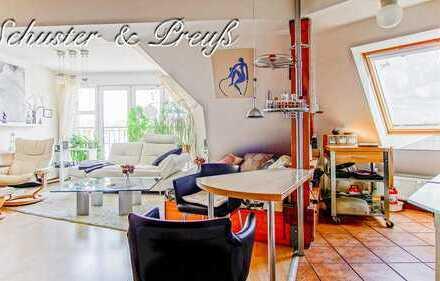 Schuster & Preuß - Eberswalde Zentrum - wunderschöne und gepflegte Dachgeschosswohnung mit 2,5 Zi...