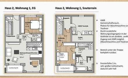 ERSTBEZUG: exklusive 3-Zimmer-Garten-Wohnung mit luxuriöser Innenausstattung in Landsham