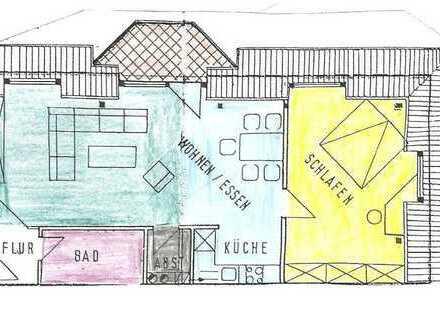 Gepflegte 2-Zimmer-DG-Wohnung mit Balkon und EBK in Beselich - Obertiefenbach