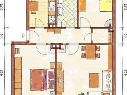 sanierte Wohnung im EG, drei Zimmer