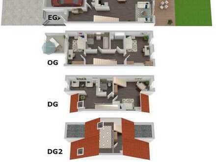 Reiheneckhaus 147m² Erstbezug Neubau Garten und Balkon Garage