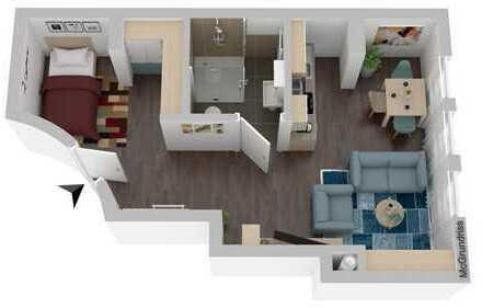 Attraktives Appartement: Einbauküche, Echtholz-Eicheparkett, barrierefrei und Tiefgaragenstellplatz