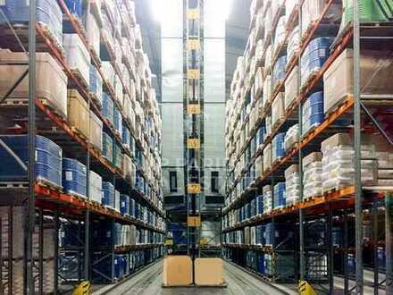 WO - Hochregallager in Logistikpark im Industriegebiet