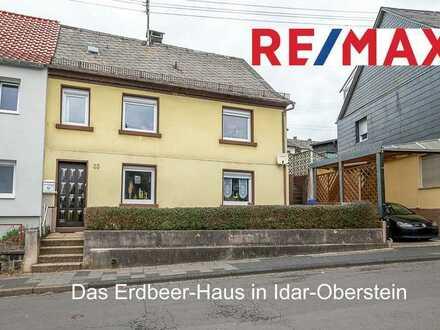 Das Haus mit den Erdbeer-Beeten steht in der Algenrodter Straße 33 in Idar-Oberstein
