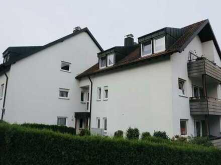 Gepflegte moeblierte Wohnung mit schoener Aussicht