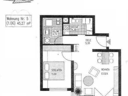 Zwei-Zimmer-Wohnung mit Tiefgaragen-Stellplatz