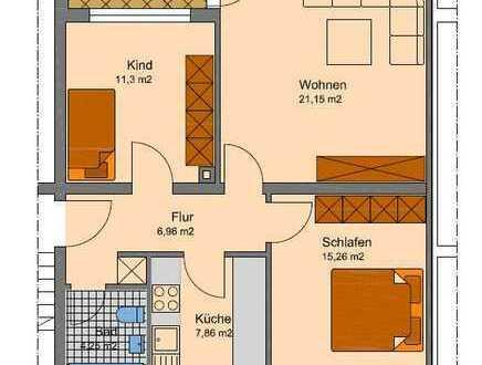 Geräumige 3 Zi. Wohnung im 1. Obergeschoss mit Balkon