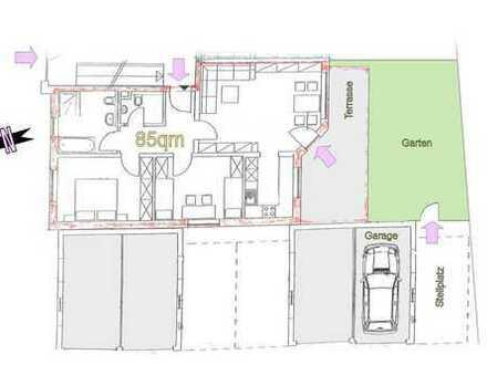 Erstbezug 3Zi-EG-Wohnung mit überdachter Terrasse & eigenem Garten in Burglengenfeld
