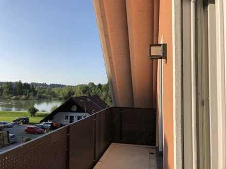 Moderne, helle Neubau DG Wohnung, 3 große Balkone und Blick auf die Isar, Bad Tölz