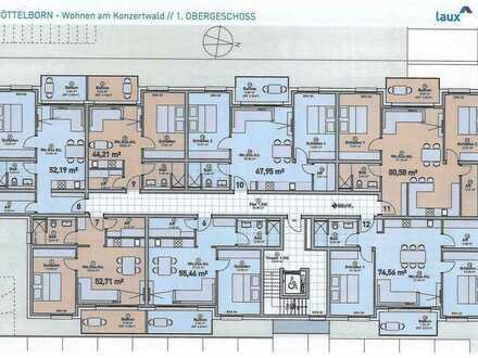 Neubau-Wohnungen (Nr. 12) in Quierschied-Göttelborn, KfW 55
