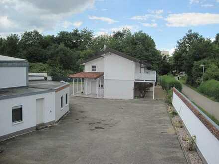 Gewerbegrundstück mit Halle, Bürotrakt, Garagen und Einfamilienhaus in BFH-Jagstfeld