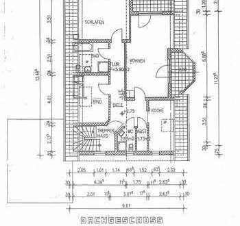 Günstige, gepflegte 3-Zimmer-DG-Wohnung mit Balkon in Feilbingert