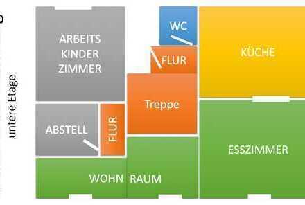 Burgsteinfurt 110qm Maisonette-Wohnung mit Schlossblick, Steinfurt