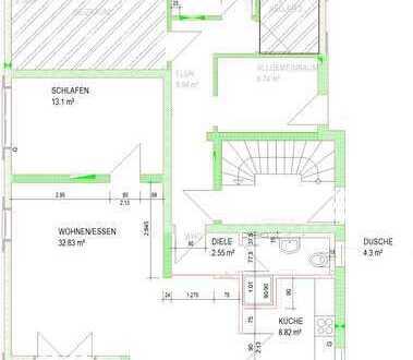 2-Zimmer-Wohnung mit Terrasse in Niedrigenergiehaus in Gaiberg