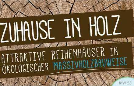 """""""Zuhause in Holz"""" Attraktives Reihenhaus in ökologischer Massivholzbauweise in Landshut/Auloh"""
