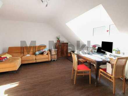Komfortabel wohnen auf 2 Ebenen: Helle, gepflegte 4-Zi.-Maisonette mit Gartenanteil in Neckarau