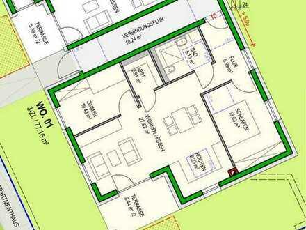 *Seniorenwohnung* Neubau: barrierefreie Seniorenwohnung mit Terrasse, Aufzug und Hausmeisterservice