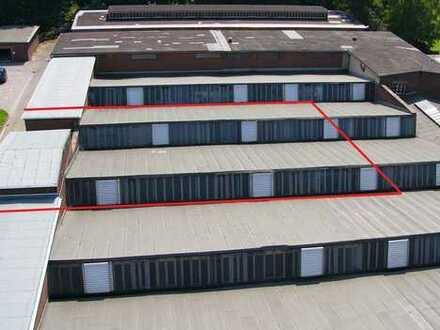ebenerdige 510m² Scheddachhalle im Gewerbepark Lager oder Produktionsfläche