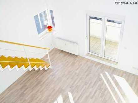 loftartige 3 Zimmer + 2 Balkone + TG-Stellplatz