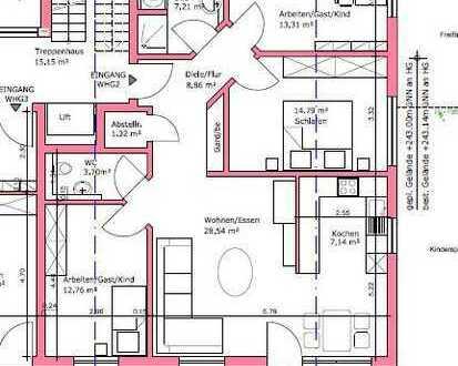 Neu: großzügige 97 qm OG-Wohnung mit großem Balkon