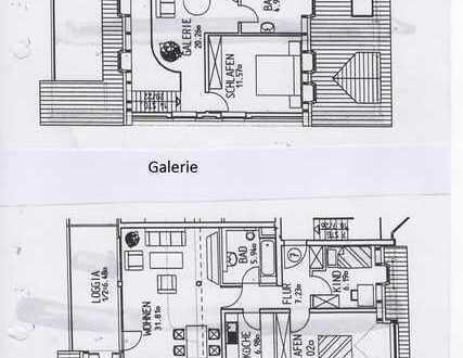 Helle Architektenwohnung über zwei Etagen mit grosszügiger Loggia in Südlage!