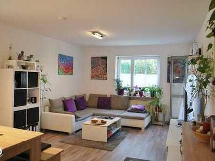 reizende 3-Zimmer-Wohnung mit kleinem Garten in Ortsrandlage von Ichenhausen