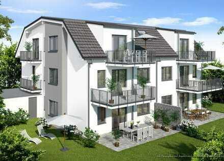 Rohbau fertiggestellt: 2-Zimmer-DG-Wohnung mit zwei Balkonen - KfW 55