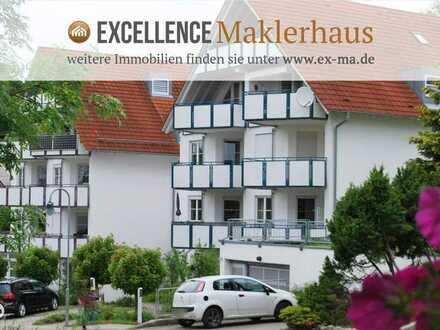 reizende 2-Zimmer-Hochparterre- Wohnung mit Balkon und Tiefgarage - ganz in der Nähe von Ulm