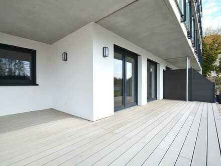 Neubau Erstbezug - Große 3 Zimmerwohnung mit Südostbalkon, Fahrstuhl, Tiefgarage