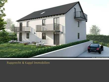 2-Zimmer-Neubauwohnung DG mit Balkon und 6 Wohneinheiten in KfW 55 Standard in Schwandorf/Fronberg