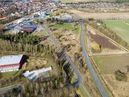 unbebautes Grundstück direkt an der B 248 und neuen Ortsumgehung Lüchow.