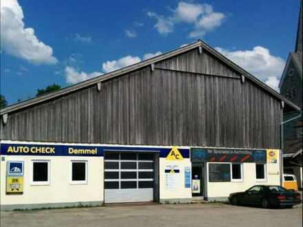 *ehemalige Werkstatt / Halle mit 2360qm Freifläche in Ascholding*