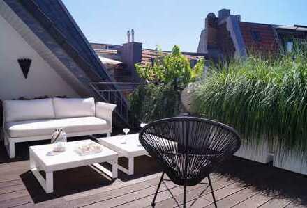 Köln-Südstadt: Luxuriöses Penthouse mit zwei Dachterrassen und Aufzug in ruhiger Top-Lage