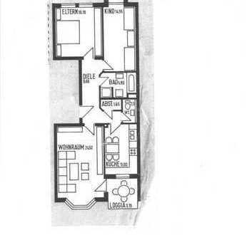 3-Zimmer-Wohnung in gepflegter Anlage mit Südbalkon
