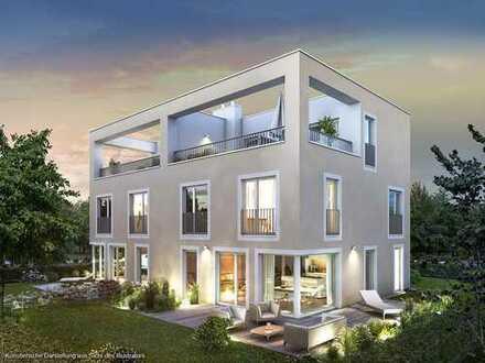 6-Zimmer-Doppelhaus-Villa mit 3 Bädern sowie sonniger Terrasse und Dachterrasse