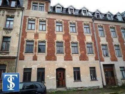 44/17 - unsaniertes Mehrfamilienhaus / Reihenmittelhaus in Plauen (Unterer Bahnhof)