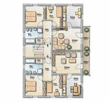256.000 €, 80 m², 3 Zimmer