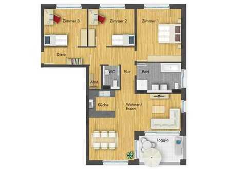 Helle und geräumige 4-Zimmer-Wohnung im 2. Obergeschoss