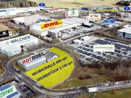 UPDATE NEUE PLÄNE Neubau Vielzweckhalle 600 qm mit 2.148 qm Freifläche, A 9 Anschluss PROVISIONSFREI