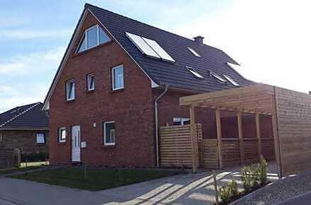 Wohnung (Doppelhaus) im Neubaugebiet, mit Terrasse und kl. Garten, familienfreundlich